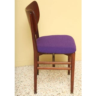 1950s Vintage Eva & Nils Koppel Midcentury Modern Fumed Oak Dining Chairs- Set of 4 Preview