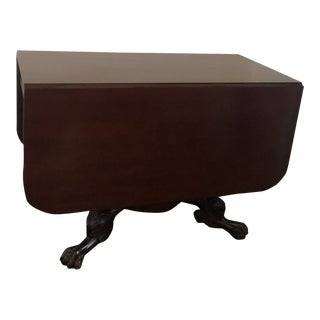 American Empire Drop Leaf Table For Sale