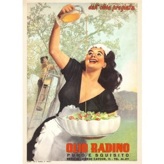Olio Radino Vintage Authentic French Poster For Sale