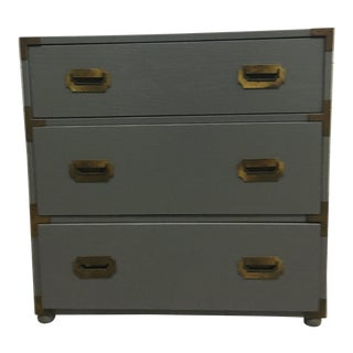 20th Century Campaign Grey Chest For Sale