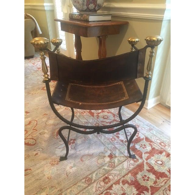 Antique Italian Savonarola Chair - Image 5 of 8