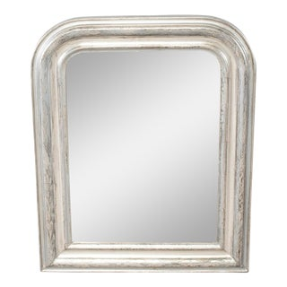 19th Century Louis Philippe Silver Gilt Framed Mirror For Sale