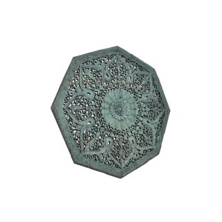 Octagonal Southeast Asian Carved Flower Panel Preview