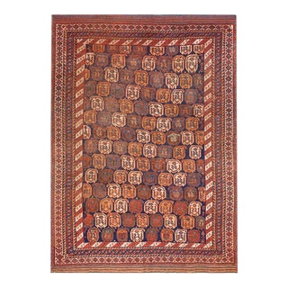 """Antique Persian Afshar Rug 4'6""""x6'3"""" For Sale"""