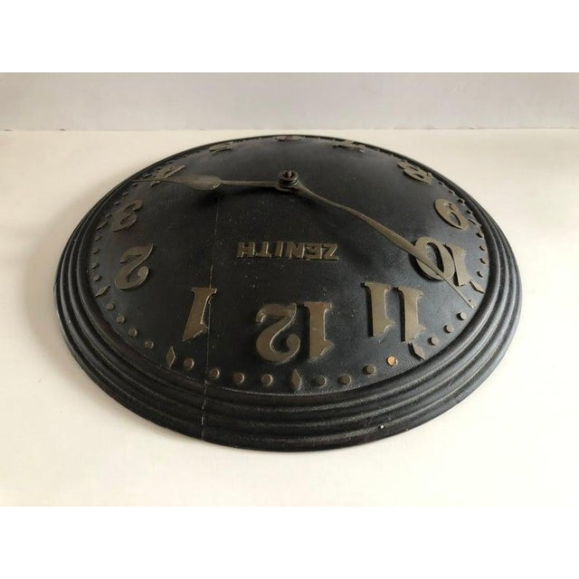 1930s Art Deco Zenith Wall Clock Decor For Sale In New York - Image 6 of 12