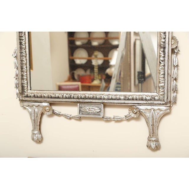 1920s Silver Leafed Italianate Mirrors - a Pair For Sale - Image 4 of 5