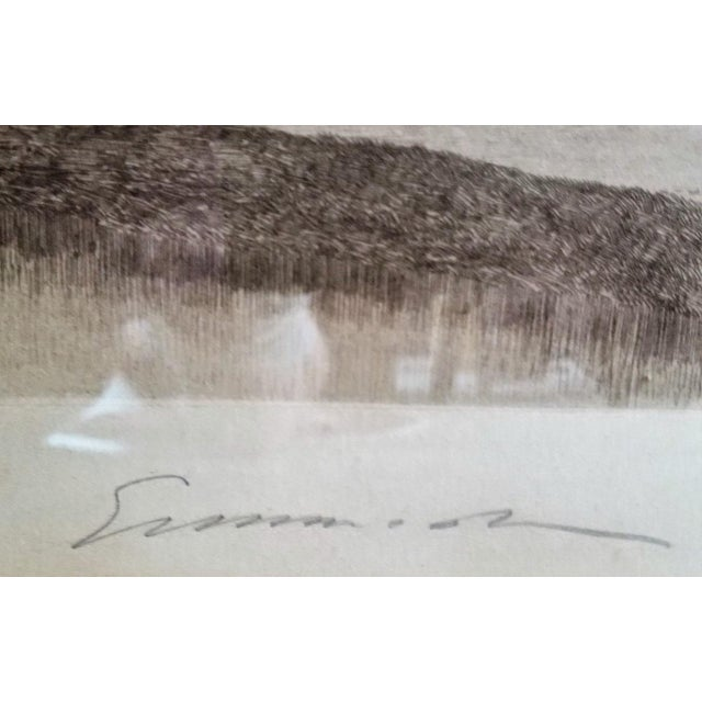PRESENTING a RARE New England/New York etching, namely, a 19C New York Signed Etching by Ernest Christian Rost 1891. This...