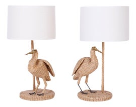 Image of Wicker Table Lamps