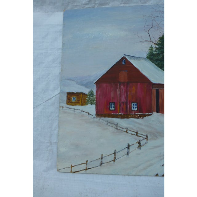 Cottage The Old Red Barn Painting by H.L. Musgrave For Sale - Image 3 of 6