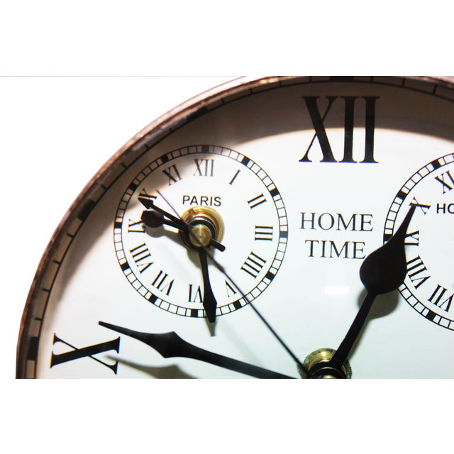 Louis XIII Over Sized Metal Louis XII Desk Clock For Sale - Image 3 of 5