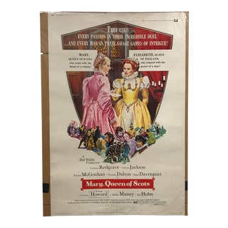 """Universal """"Mary, Queen of Scots"""" Vintage Movie Poster"""