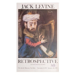 1970s Jack Levine Poster - Signed For Sale