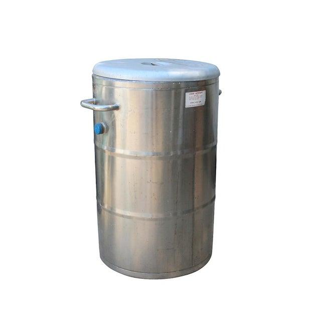 1960s Cryogenics Stainless Steel Nitrogen Storage - Image 4 of 5
