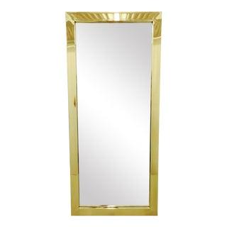 Mid-Century Modern Brass Mirror