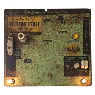 Industrial Repurposed Electric Fence Sign/Tester