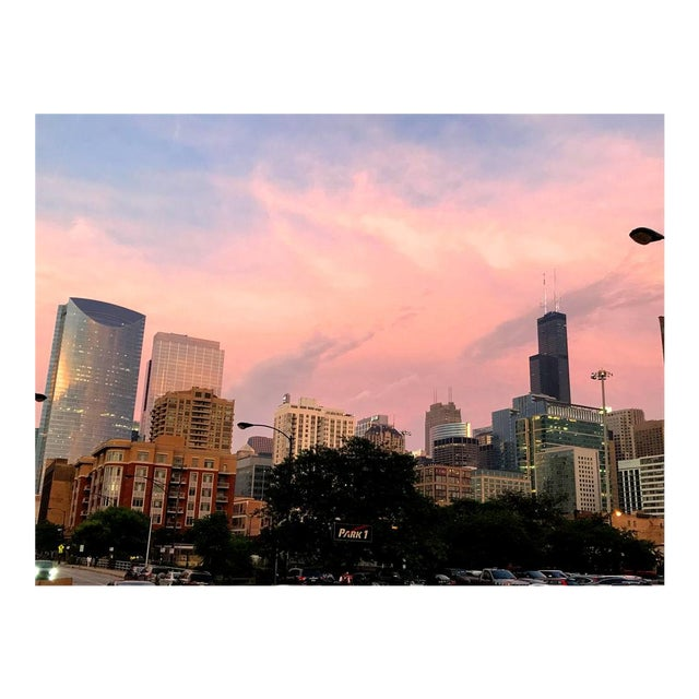 Image of Chicago Evening Sky Photograph by Josh Moulton