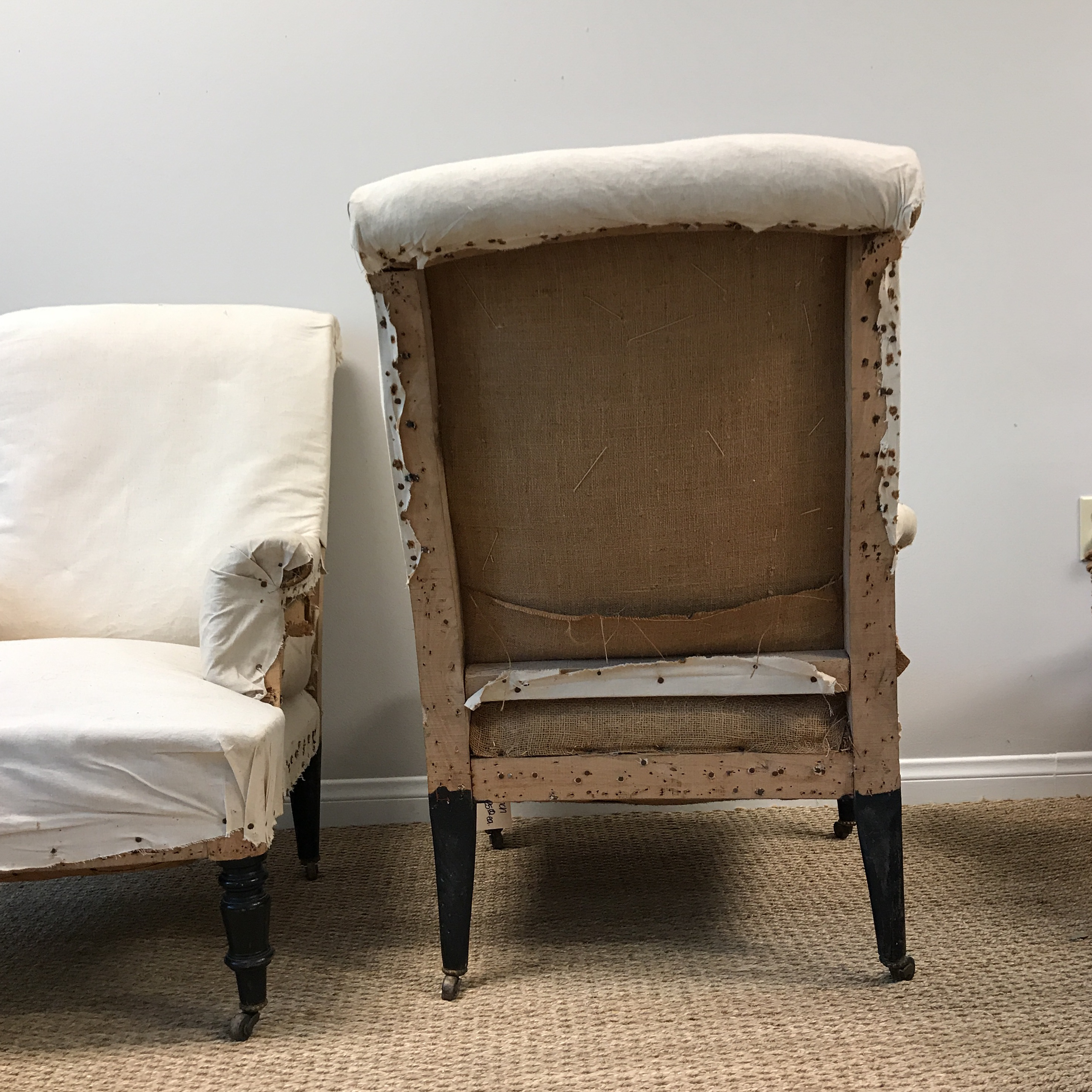 Vintage French Deconstructed Chairs   A Pair For Sale In Los Angeles    Image 6 Of