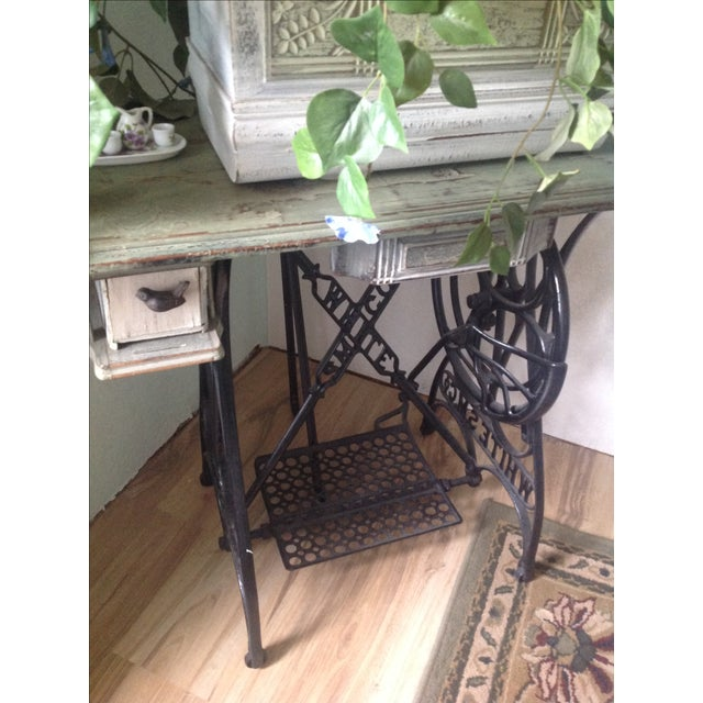 Antique Treadle Sewing Machine Base Flower Planter - Image 3 of 6