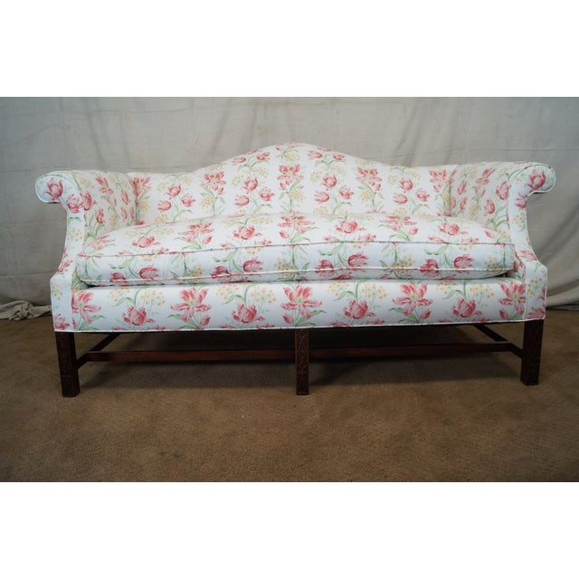 Antique Chippendale Style Mahogany Frame Sofa - Image 6 of 10