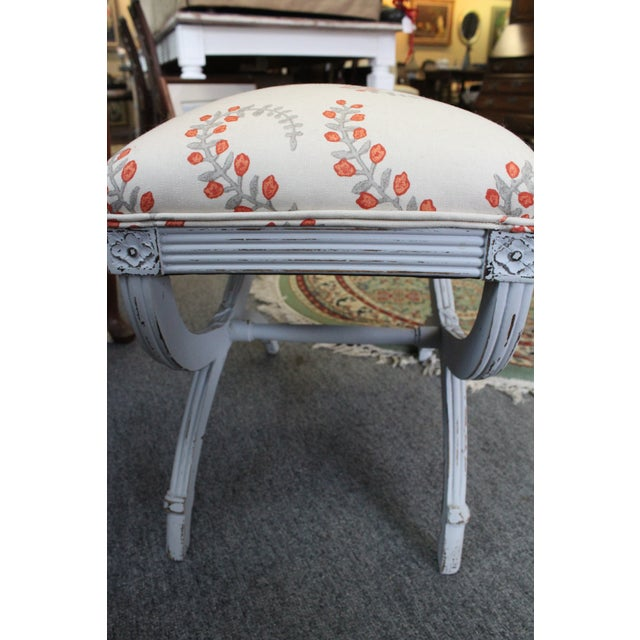 Late 20th Century Vintage Upholstered Stool For Sale - Image 4 of 5