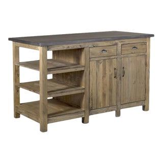 Crafters and Weavers Barlow Display Kitchen Island For Sale