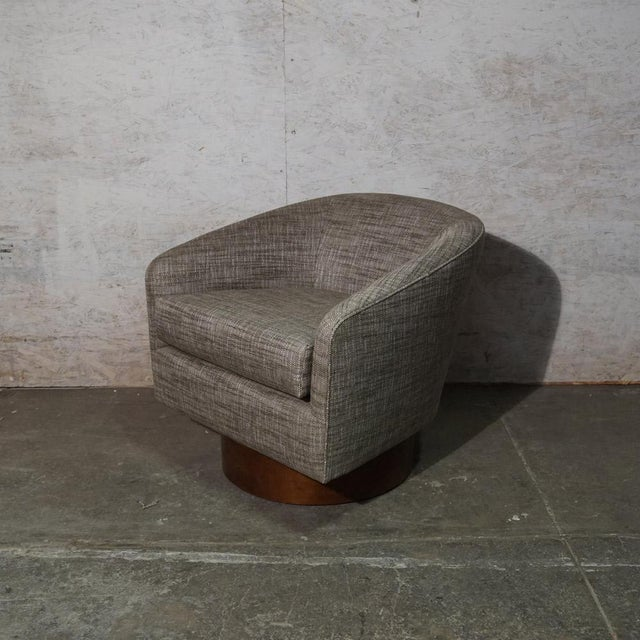 Milo Baughman Swivel Club Chair Fully Restored & Reupholstered (two available)