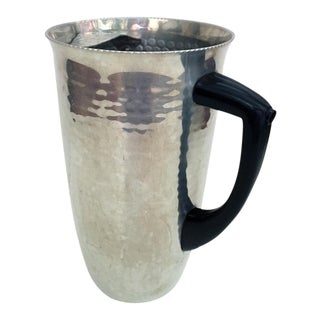 1950s Mid-Century Modern Aluminum Pitcher For Sale