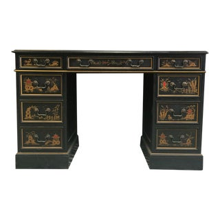 """Chinoiserie Kneehole Parsons Sligh-Lowry Desk"" For Sale"