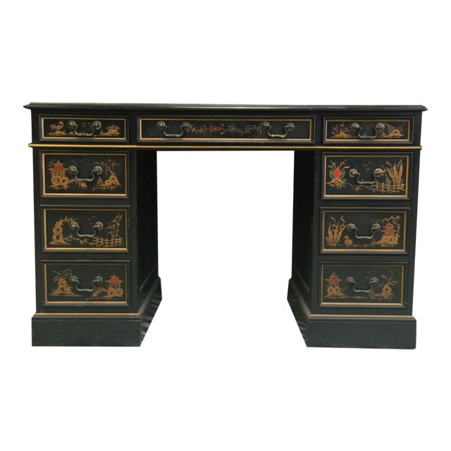 """""""Chinoiserie Kneehole Parsons Sligh-Lowry Desk"""" For Sale"""