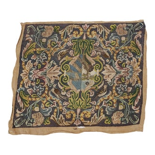 18th to 19th Century Textile Sampler With Birds & Floral Motif For Sale