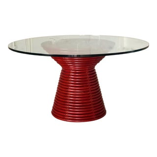 Contemporary McGuire Red Round Table For Sale