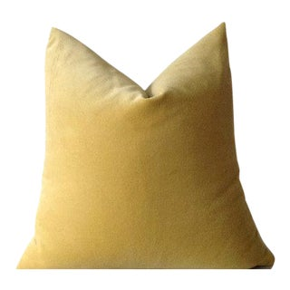 Sunshine Yellow Velvet Pillow Cover For Sale