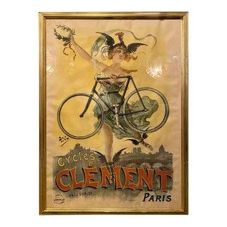 Original Pal Poster Cycles Clement Paris by Pneu Dunlop Framed For Sale