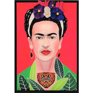Enrico Cecotto Tribute to Frida: Sculptural Painting For Sale