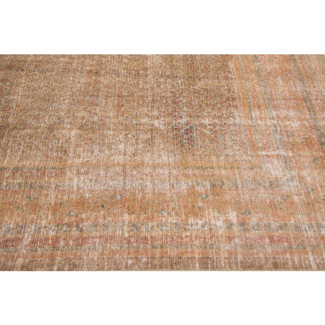 """1910s Traditional Apadana-Antique Persian Distressed Rug - 6'8"""" X 10'5"""" For Sale - Image 9 of 10"""