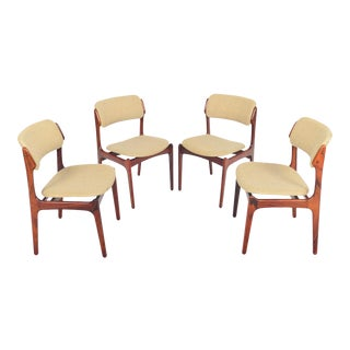 Erik Buch Model 49 Dining Chairs in Rosewood - Set of 4 For Sale