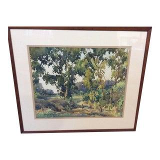 Harry DeMaine Watercolor Landscape Painting For Sale