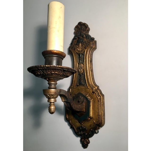 1930s 1930's French Style Single Light Sconces - a Pair For Sale - Image 5 of 11