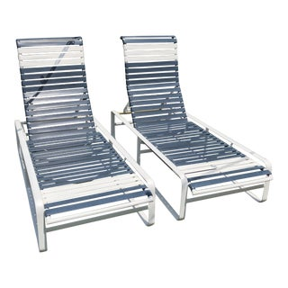 Vintage Brown Jordan Tropitone Poolside Lounge Chairs - a Pair For Sale