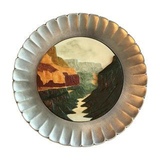 Prescott W. Baston Grand Canyon Sculpture Plate