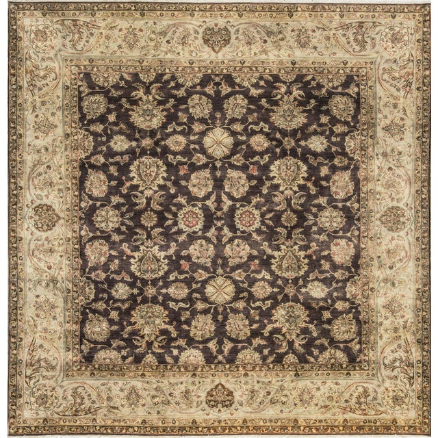 Traditional Hand Woven Rug - 10' X 10'1 For Sale - Image 4 of 4