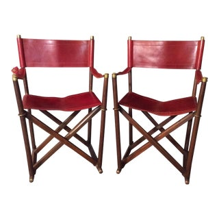 Almazan Sarried Campaign Chairs - A Pair