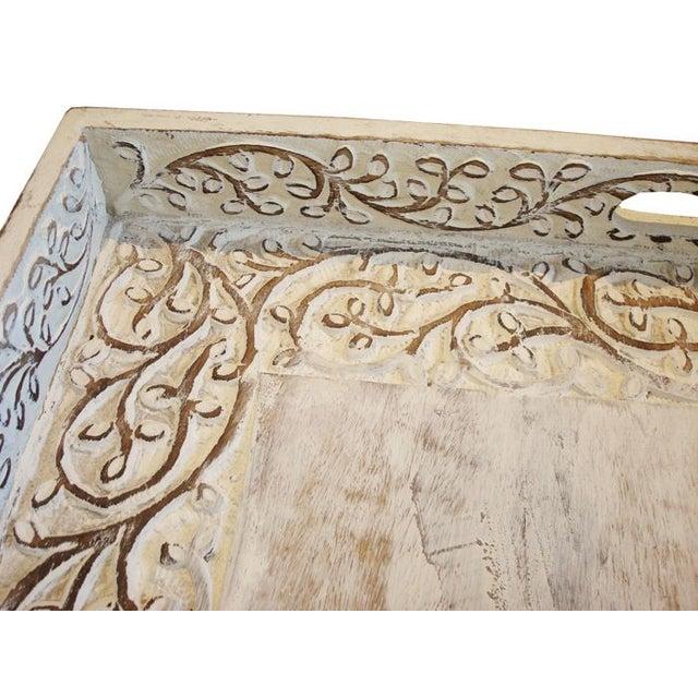 Large Teak Carved Tray - Image 2 of 3