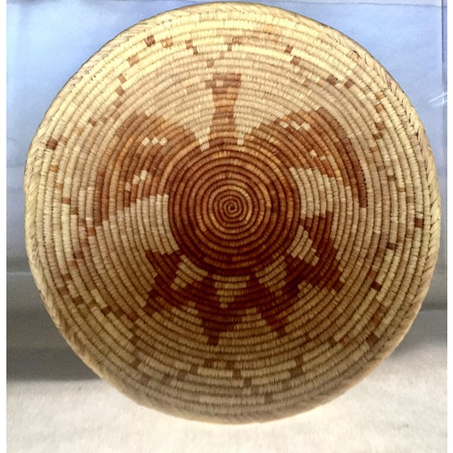 Vintage Native American Apache Pima Coil Basket - Image 9 of 11