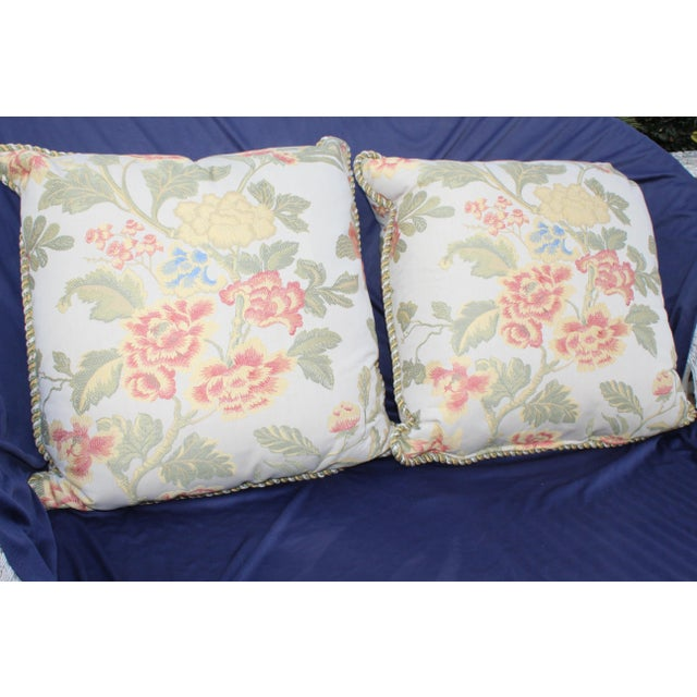 Pr. Of Possible Italian Scalamandre Down Filled Pillows For Sale - Image 4 of 13