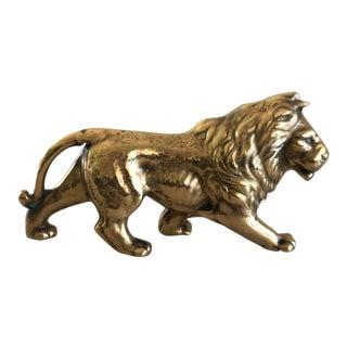 Vintage Brass Lion Figure
