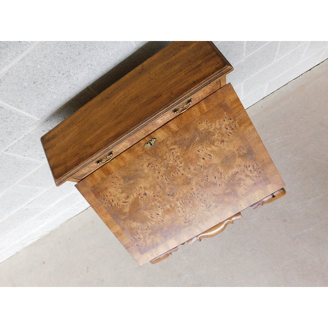 """Gold Weiman Georgian Queen Anne Style Walnut Slant Front Writing Desk 41""""h X 26""""w For Sale - Image 8 of 12"""