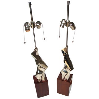Pair of Laurel Sculptural Table Lamps by Richard Barr, Circa 1964 For Sale