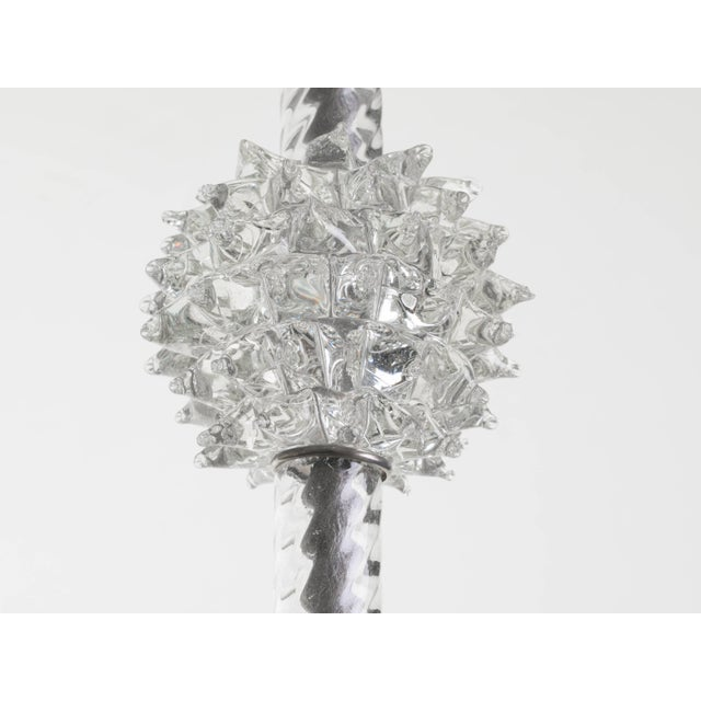 Metal Murano Glass Chandelier by Ercole Barovier For Sale - Image 7 of 11