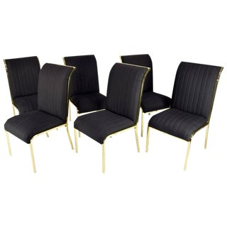 Design Institute of America 'DIA' Dining Chairs in Brass Finish - Set of 6 For Sale